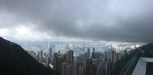 Aussicht, Hongkong, Victoria Hill, Smog