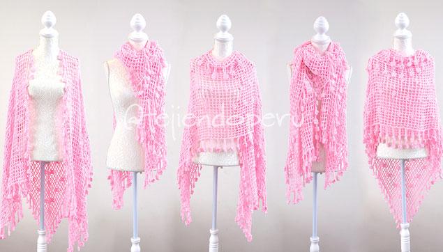 Chal Esperanza con flores tejido a crochet!