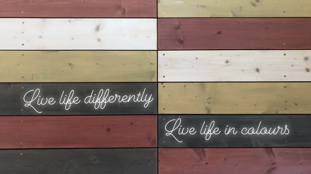 Live life differently - Live life in colours!