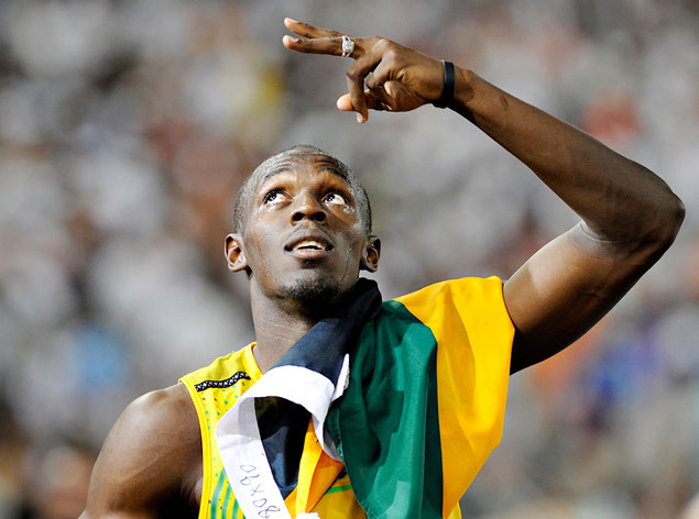 Usain Bolt, Leichtathlet, Sprinter, Olympiasieger, Weltmeister