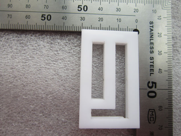 3mm thick white acrylic laser cut and glued