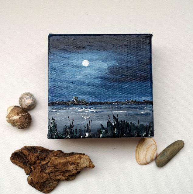 mini-peinture-royan-peinture-marine-ocean-pleine-lune-nuit-bleu-petit-tableau-chevalet-artiste-peintre-audrey-chal