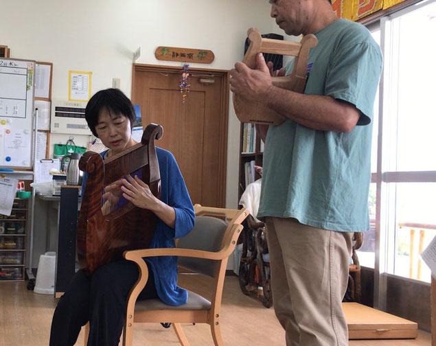 竪琴 ライアー てるる詩の木工房 竪琴制作・販売 あやはべる 9弦 32弦 39弦 leier lyre ソプラノライアー