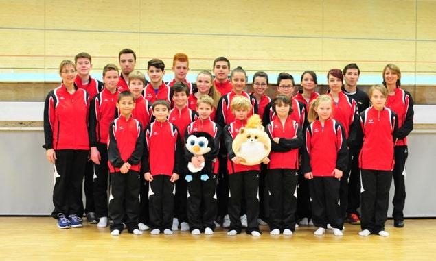 Entraineurs et gymnastes du TC Haut-Léman en 2014