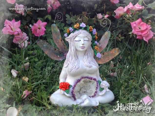 Escultura Hada Libélula. BIG Mamá Hada Libélula,escultura hada, figura hadas grandes