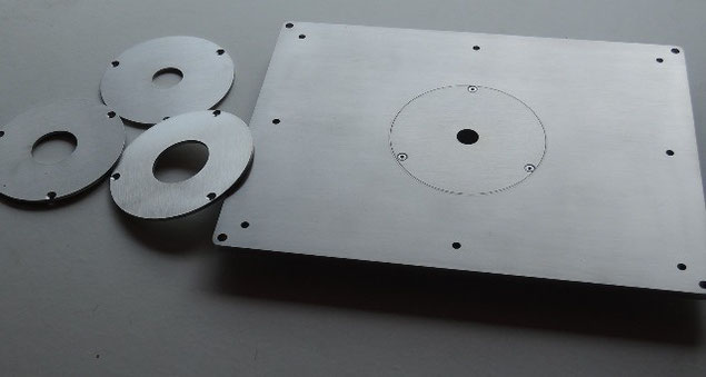 Router Table Plate And Woodworking Tools Utensili Per