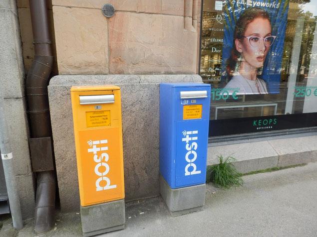 フィンランドの郵便ポスト