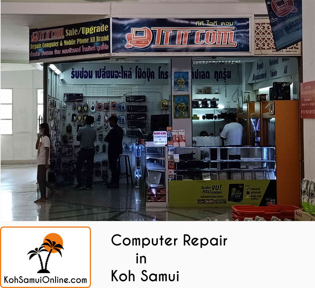 computer repair shop smartphone repair in koh samui