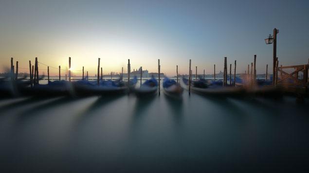 Langzeitbelichtung | Gondolas Piazza San Marco | Venedig Italien 2015