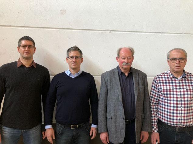Der Vorstand:    Andreas Schupp, Schatzmeister;    Markus Jost, Schriftführer;    Helmut Konrad, 2. Vorsitzender;    Rüdiger Lieser, 3. Vorsitzender und Abteilungsleiter Fußball.