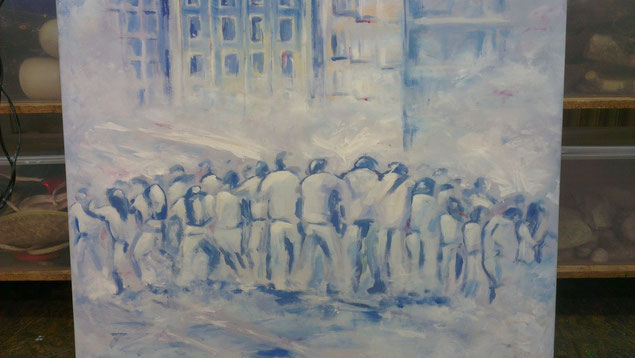 Istanbul Johanna Elliott elliottism Acrylmalerei