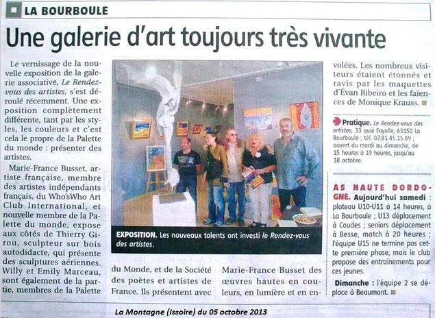 """Article : """"La montagne"""" publié le 05 octobre 2013"""