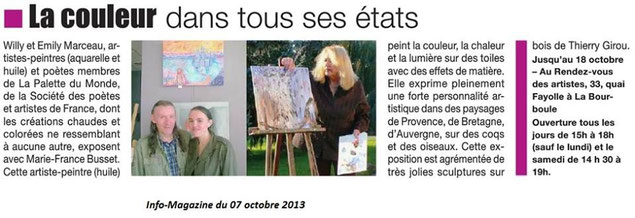 "Article : ""Info-Magazine"" publié le 07 octobre 2013"
