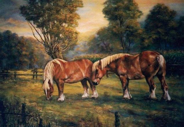 Brabanders  -  Olieverf op doek  120 x 100 cm