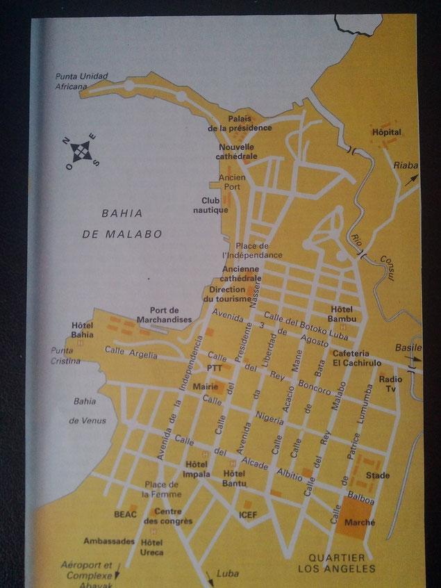 Plan du centre-ville de Malabo