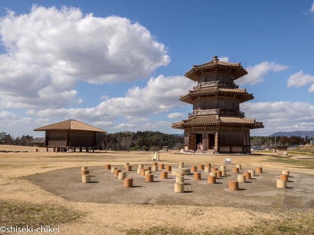 鞠智城。東アジア情勢が緊迫した7世紀後半に大和朝廷が築いた山城。