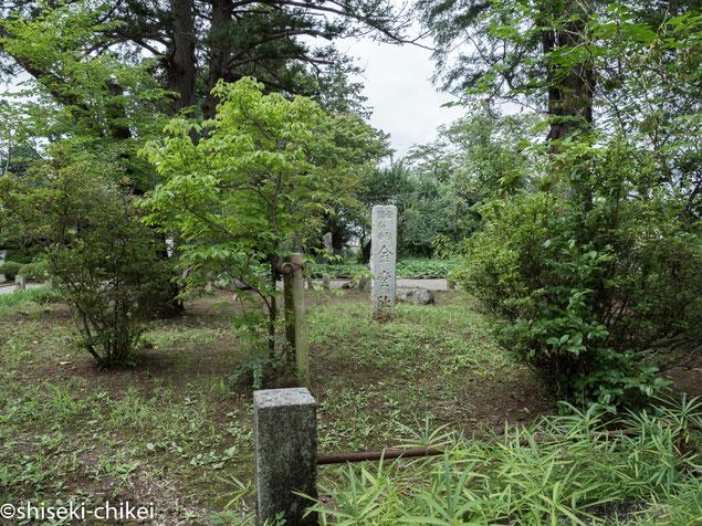 2017年8月20日撮影 現国分寺境内にある常陸国分寺金堂跡碑