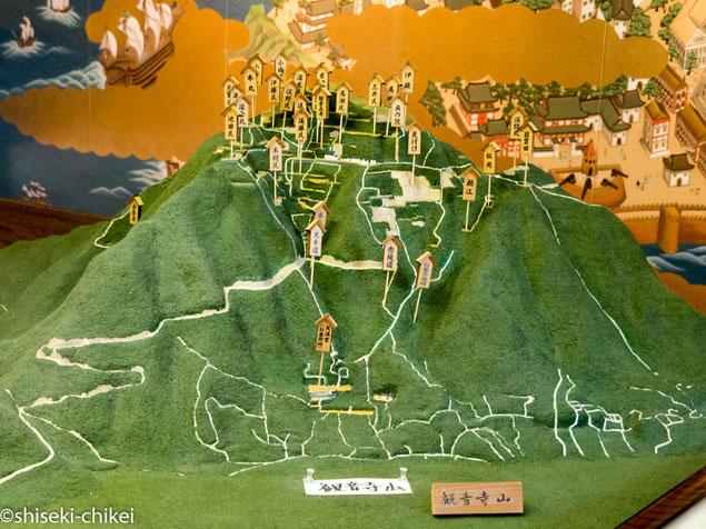安土城郭資料館にある観音寺城の地形模型