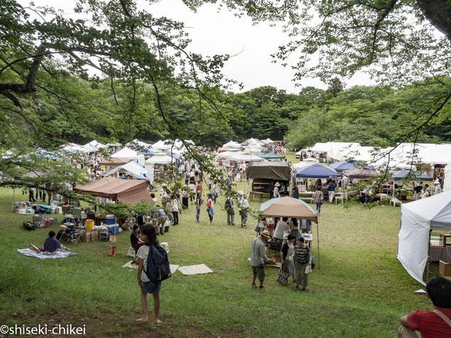 2016年6月4日撮影 本丸跡で陶芸作家たちのイベント開催