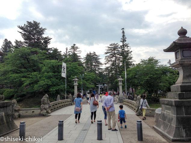 米沢城本丸跡は上杉神社境内となっている