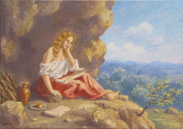 Tony Wahlander (Wåhlander) Sainte Marie Madeleine à la grotte de la Sainte Baume