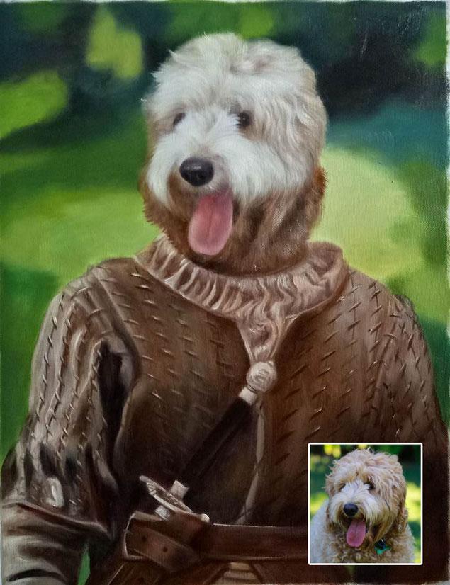 portrait-peinture-chien-Thierry-poncelet-medieval