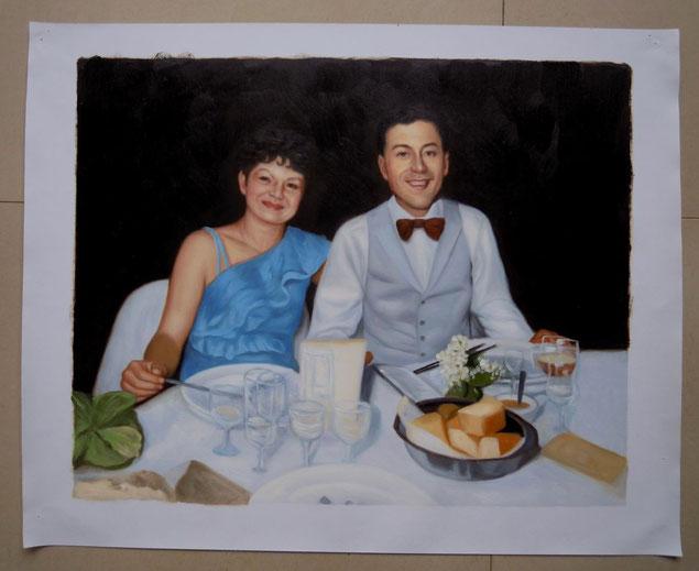 portrait-peinture-couple-cadeau-mariage
