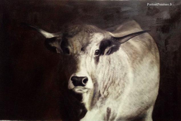 portrait-peinture-apres-photo-vache