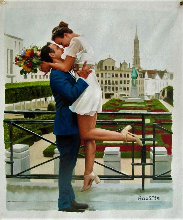 temoin-mariage-tableau-peinture-portrait