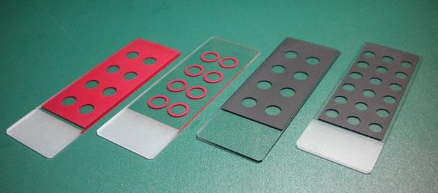 撥水印刷 撥水スクリーン印刷 撥水性スライドガラス カスタマイズ
