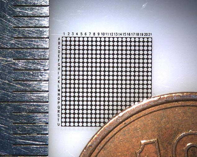 高精細パターン印刷 φ0.3