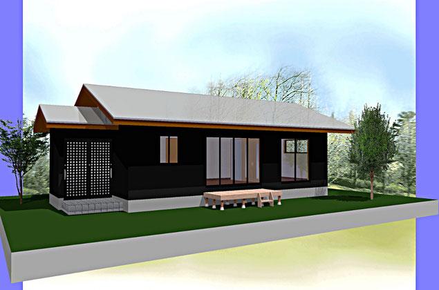 水害を受けた地域の復興木造住宅の提案