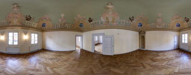 Beispiel einer wunderschönen Immobilie mit herrlichen Stuckarbeiten (Rokokosaal)...