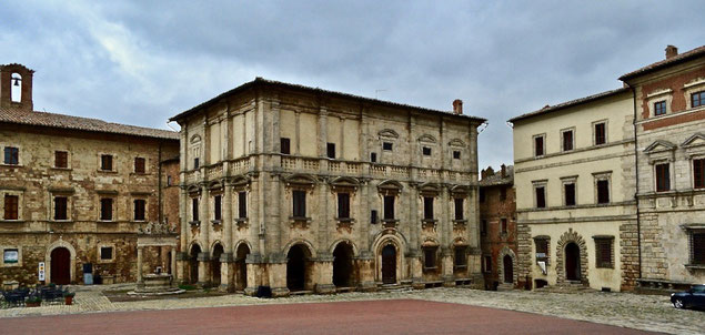 Palazzo Tarugi, piazza Grande, Montepulciano, Val di Chiana, Siena, Toscana, Tuscany