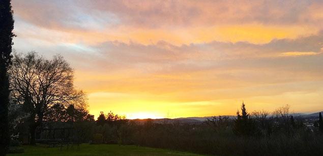 sunset, Villa, Casafredda, Arezzo, Toscana, Tuscany, Italy