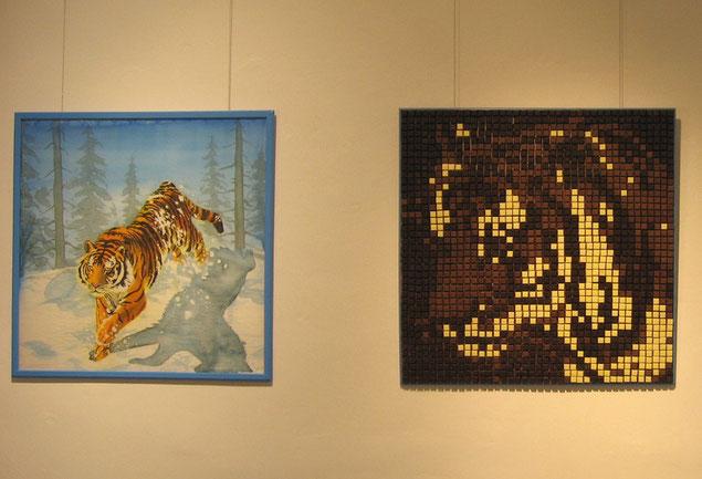 """""""EinBlick im Quadrat"""", Galerie Carlshöhe, Dezember 2013 - Februar 2014."""