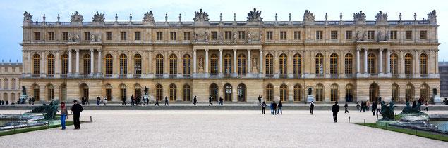 Façade du château de Versailles, vue des jardins (source: Jean-Christophe BENOIST)