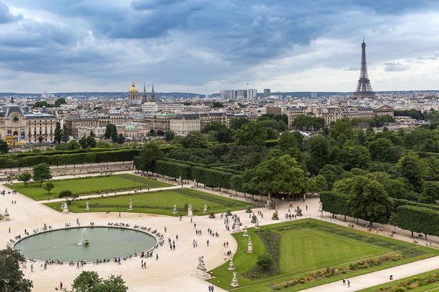 Vue sur le jardin des Tuileries (source: Marco Verch)