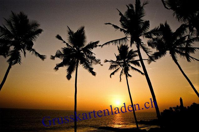 Sonnenuntergang Goa Fotokarte