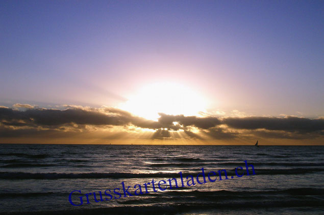 Sonnenaufgang Canoa Quebrad Grusskarte