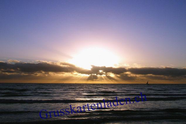 Sonnenaufgang Fotokarte