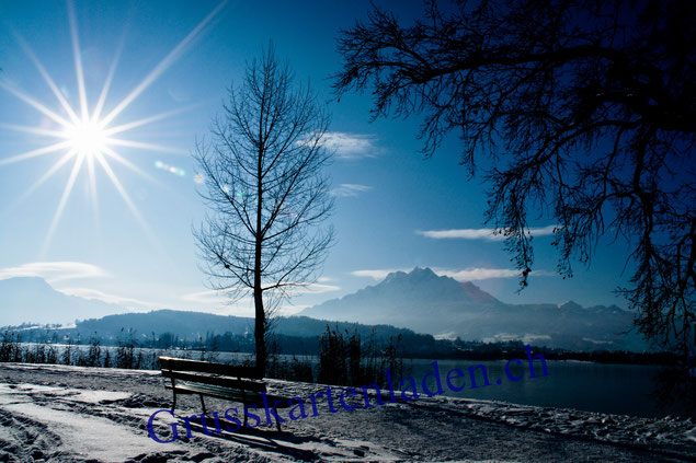 Winter-Pilatus-Luzern-Weihnachtskarten