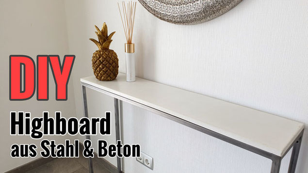 Sideboard aus Beton bauen