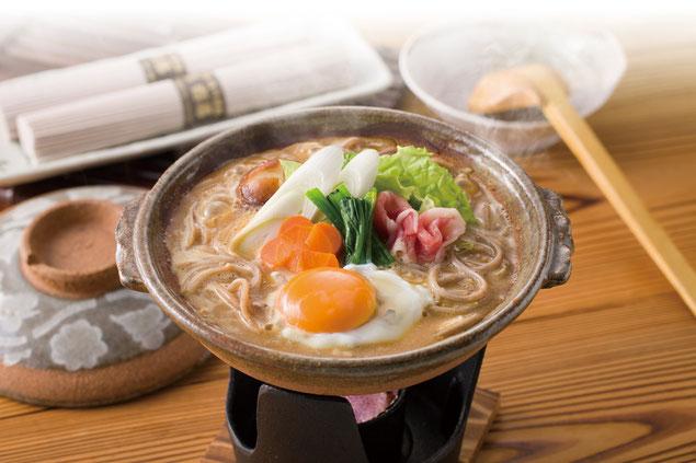 古代麺鍋焼きうどん