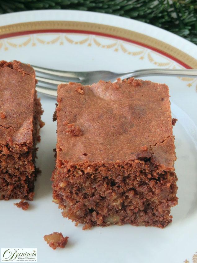 Schoko Brownies Rezept mit Nüssen