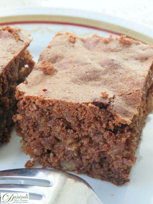 Brownie Rezept mit Nüssen. Weihnachtsbäckerei aus den USA