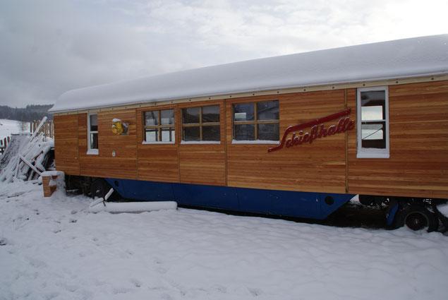 Wohnwagen Schießhalle