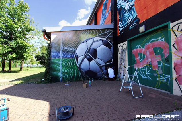 Fussball Sport Wandmalerei