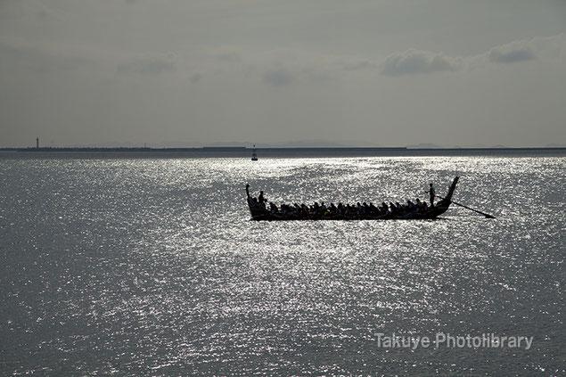 爬龍船 那覇ハーリー 練習風景 沖縄写真