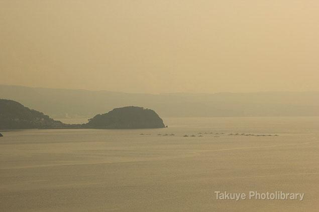 冬の海 長崎 橘湾 千々石(ちぢわ)展望台からの眺望
